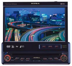 SUPRA Проигрыватель SWM-750 TV/DVD/CD/MP3,FM, выдвиж. экран 18см, USB