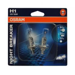 Лампа OSRAM H1-12-55 +90%+10% NIGHT BREAKER блистер 2шт